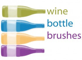 Photoshop wine-bottle-brushes