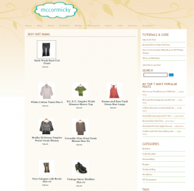 example of 3 product categories in one page